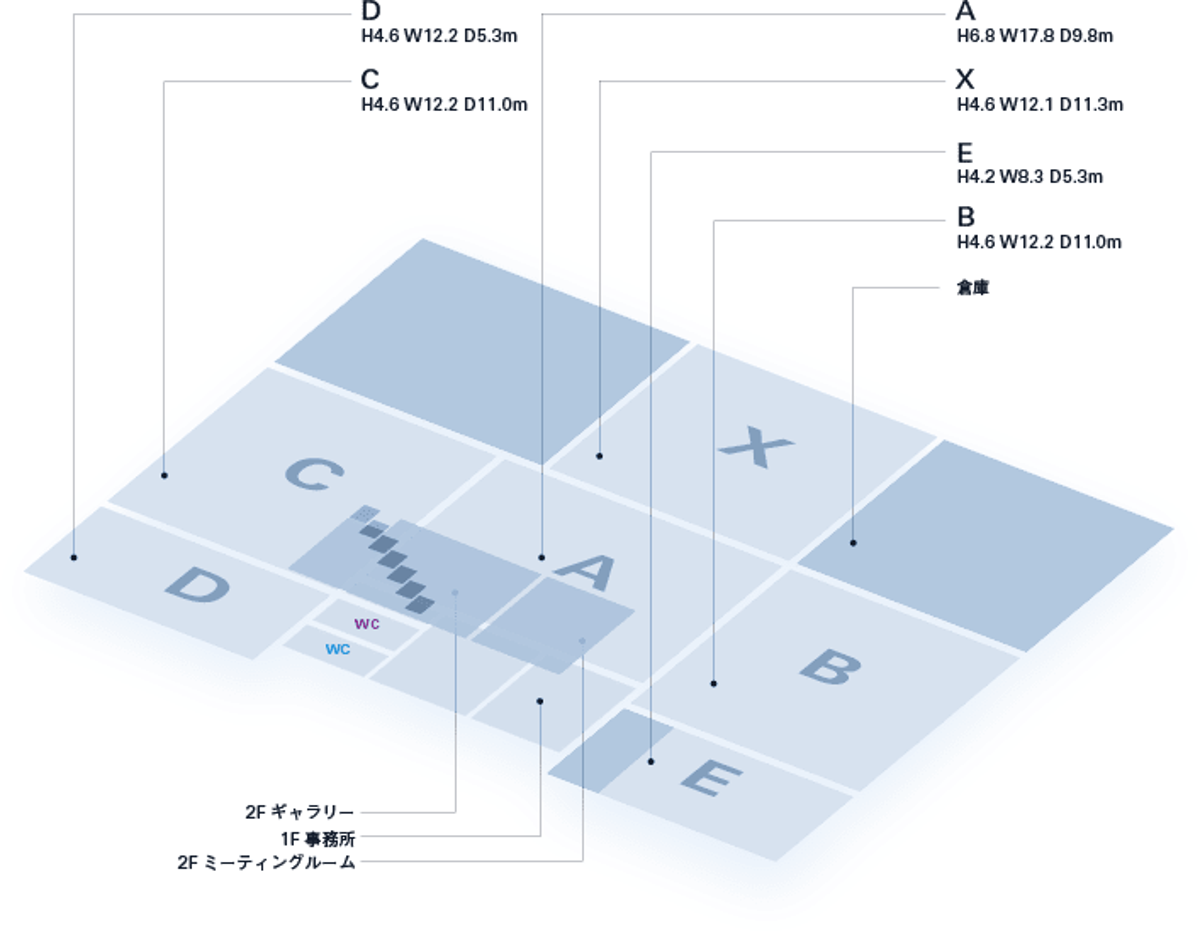 レンタルスペースのマップ
